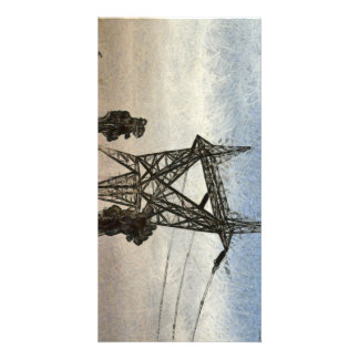 Transmission tower card