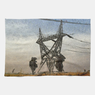 Transmission tower hand towel