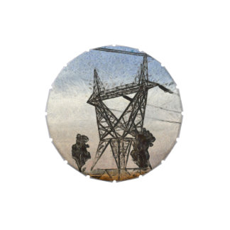 Transmission tower jelly belly tins