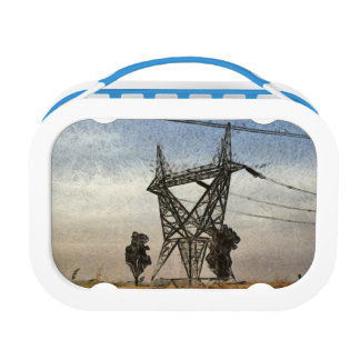 Transmission tower lunch box