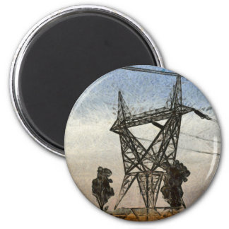 Transmission tower magnet
