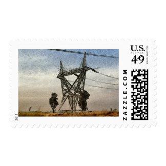 Transmission tower postage