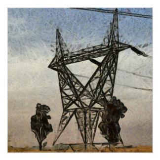 Transmission tower poster