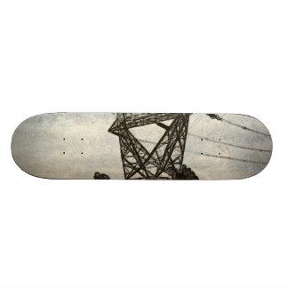 Transmission tower skateboard deck