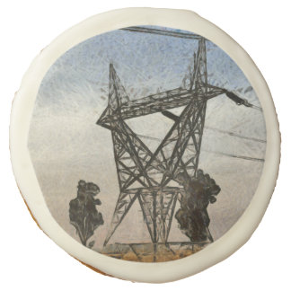 Transmission tower sugar cookie