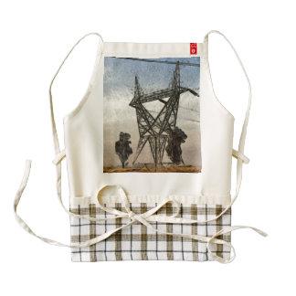 Transmission tower zazzle HEART apron