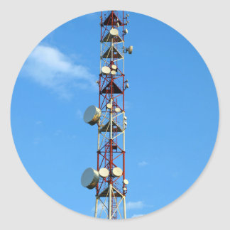 Transmitter antenna classic round sticker