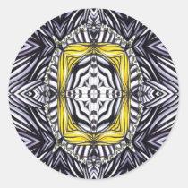 inspirational, magical, goth, illustration, alchemy, pattern, powerful, reliquary, insight, transmutation, spiritual, gothic, artsprojekt, power, Sticker with custom graphic design