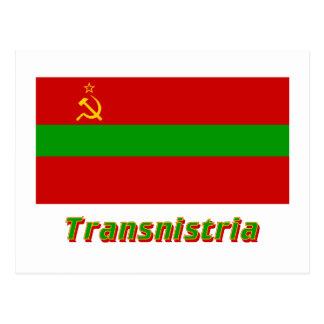 Transnistria Flag with Name Postcard