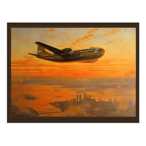 Transocean Airlines Postcard