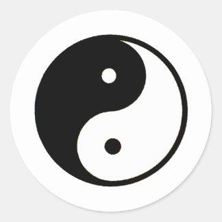 Transp de Yin Yang los regalos de Zazzle del MUSEO Pegatinas Redondas