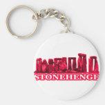 Transp magenta de Stonehenge los regalos de Zazzle Llavero Personalizado