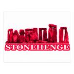 Transp magenta de Stonehenge los regalos de Zazzle Postal
