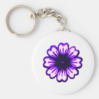 Transp púrpura azul de la margarita los regalos de llaveros
