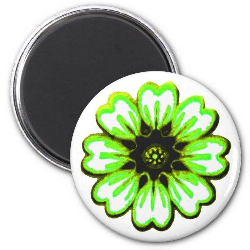 Transp verde de la margarita los regalos de Zazzle Imán Redondo 5 Cm
