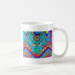 transparant rainbow reverse mosaic basic white mug