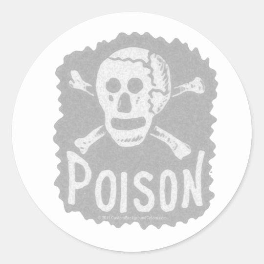 Transparencia antigua de la etiqueta del veneno