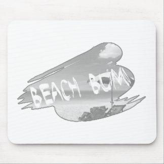 Transparencia del vago de la playa alfombrilla de ratón