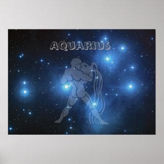Transparent Aquarius Poster