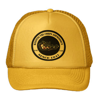 Transparent back Black/camo Gator Trucker Hat