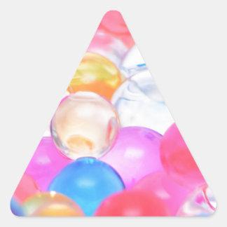transparent balls triangle sticker