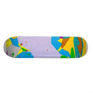 transparent bars by lalo peña custom skateboard