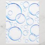 Transparent blue soap bubbles