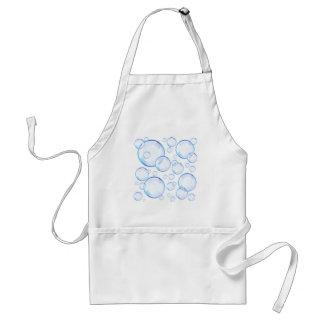 Transparent blue soap bubbles adult apron