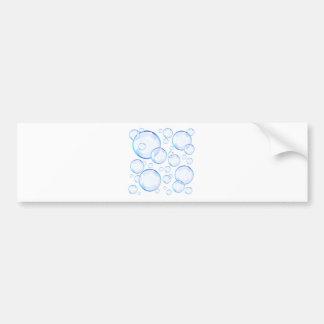 Transparent blue soap bubbles bumper sticker