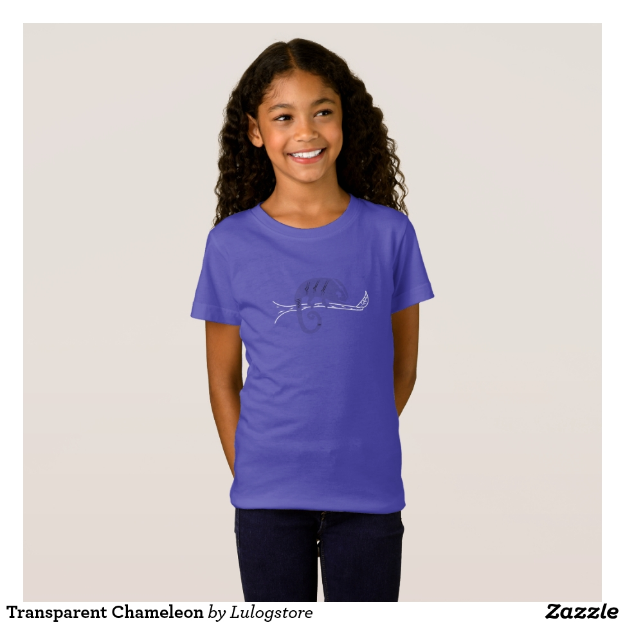 Transparent Chameleon T-Shirt - Comfortable Kids' Long Sleeve T-Shirt Designs