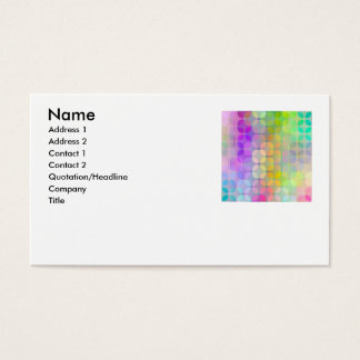 transparent colorful retro pattern, Name, Addre... Business Card