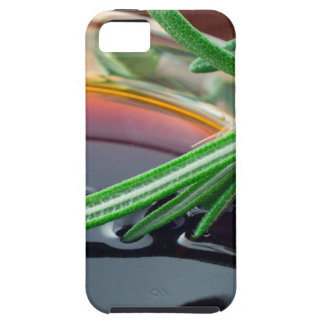 Transparent cup with soy sauce and rosemary leaves iPhone SE/5/5s case