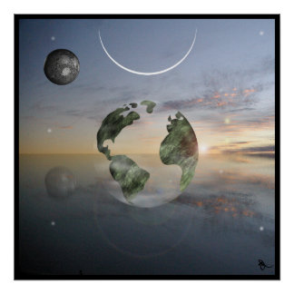 Transparent Earth Poster