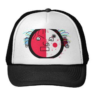Transparent face trucker hat