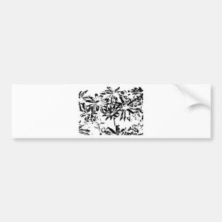 Transparent flowers bumper sticker