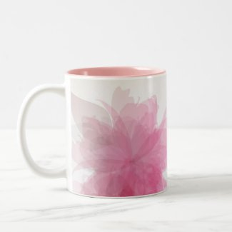 Transparent flowers mug mug