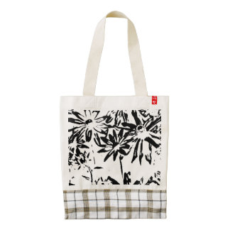 Transparent flowers Tote
