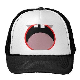 Transparent funny face trucker hat