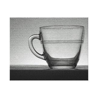 Transparent glass cup canvas print