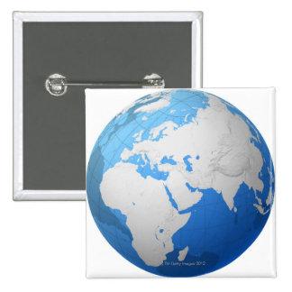 Transparent Globe 2 Pinback Button