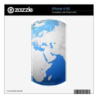 Transparent Globe 2 Skin For The iPhone 4