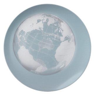 Transparent Globe 3 Plates