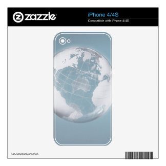 Transparent Globe 3 Skin For iPhone 4