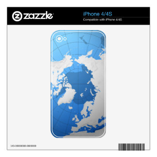 Transparent Globe Decal For The iPhone 4S