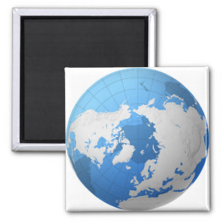 Transparent Globe Magnet