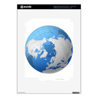 Transparent Globe Skin For iPad 3
