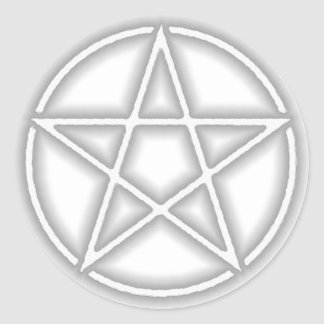 Transparent Gray Pentacle Stickers