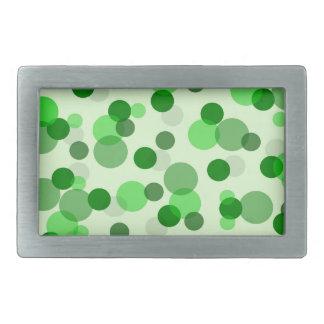 Transparent Green Dots Pattern Belt Buckle