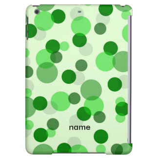 Transparent Green Dots Pattern Cover For iPad Air