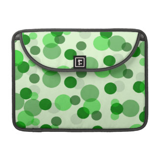Transparent Green Dots Pattern MacBook Pro Sleeve
